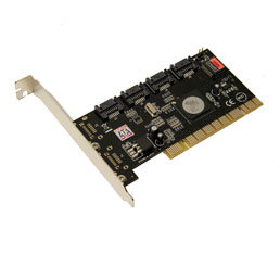 PCI-Express Serial ATA II Controller Card (1-Ext, 1-Int. Ports)